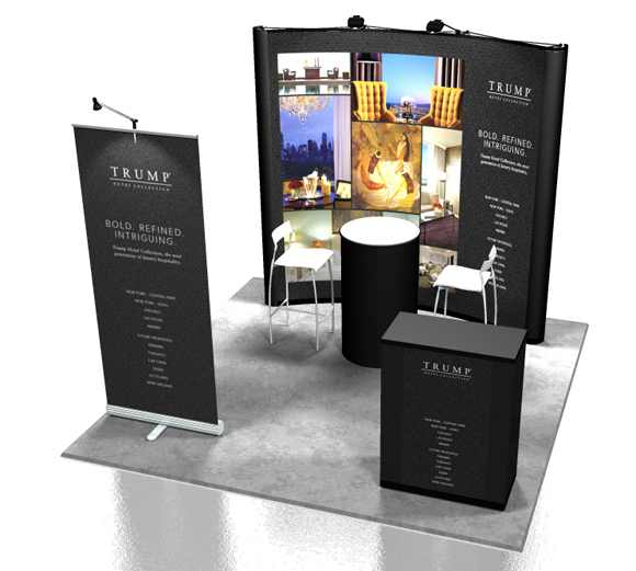 Portable Exhibition : Portable trade show display trump