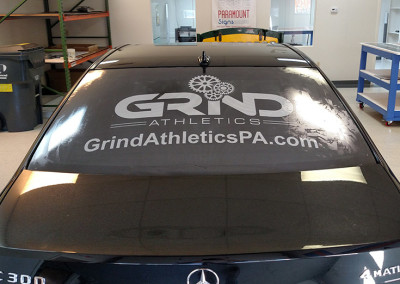 Grind Athletics Window Graphic