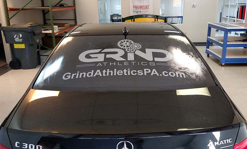 Custom Fabrication of Effective Vehicle Perf Graphic for Grind Athletics in West Chester, PA