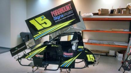 Elverson, Chester County,PA – Vehicle Wrap Installation on Race Car for RPR