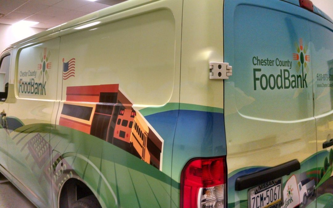 Exton, PA – Professional Vehicle Graphics Brand Fleet Van of Chester County Food Bank