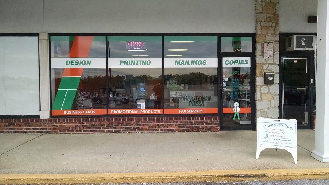Wilmington, DE – Custom Window Decals Relay Information for Minuteman Press