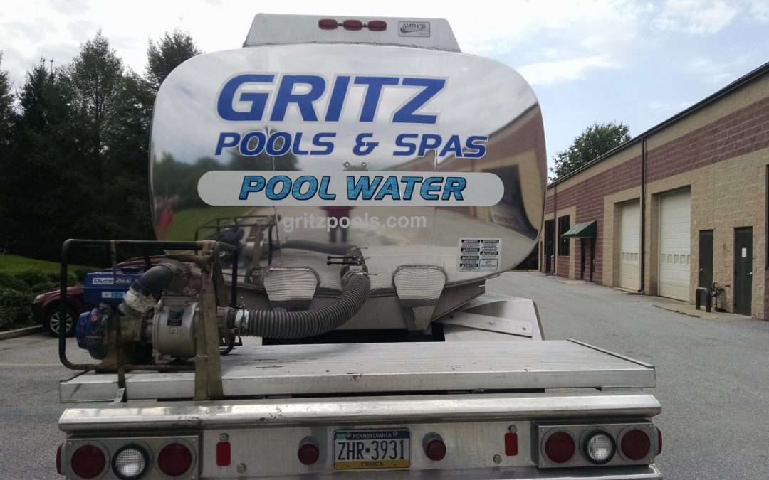 Coatsville, PA –  Vehicle Graphic Installation on Truck for Gritz Pools and Spas