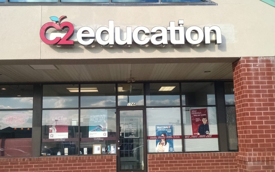 Bluebell, Montgomery County,PA – Channel Letter Sign Install Service for C2 Education