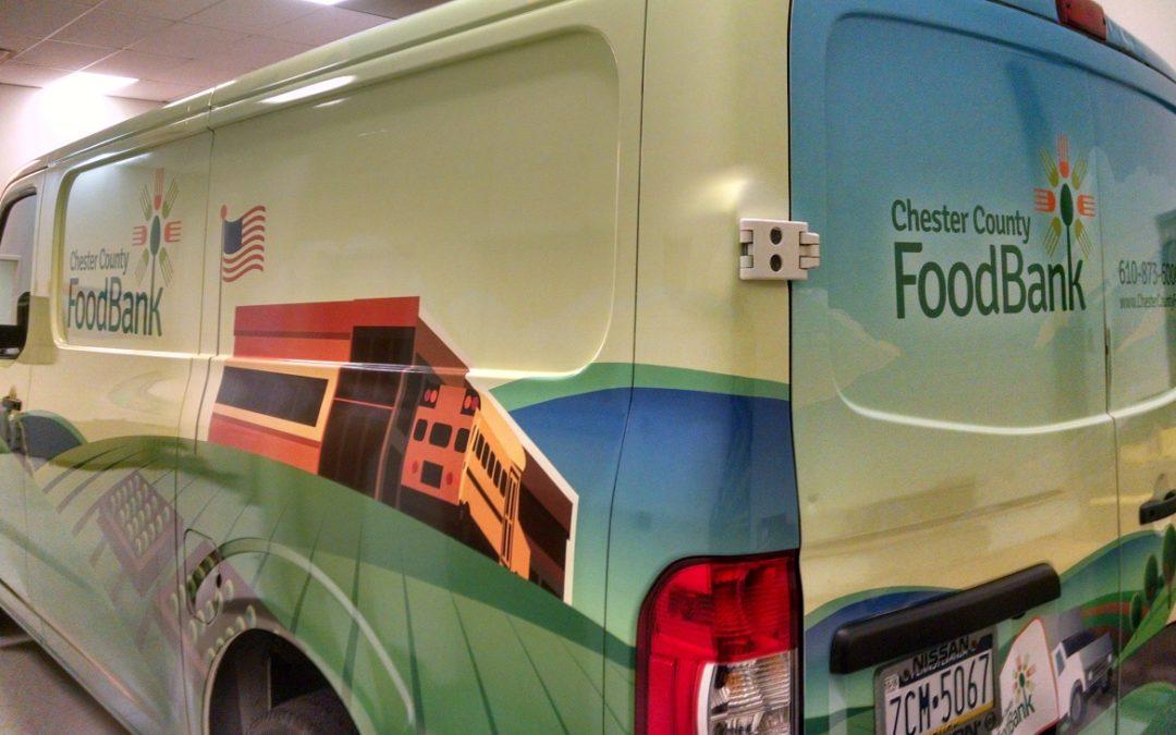 Exton, PA – Professional Vehicle Graphics Brand Fleet Van of Chester County Food Bank